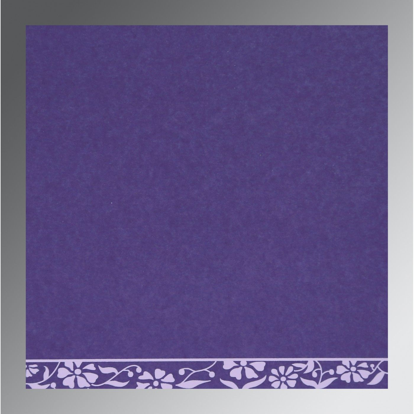 PURPLE MATTE FLORAL THEMED - SCREEN PRINTED WEDDING CARD : CI-8222O - IndianWeddingCards