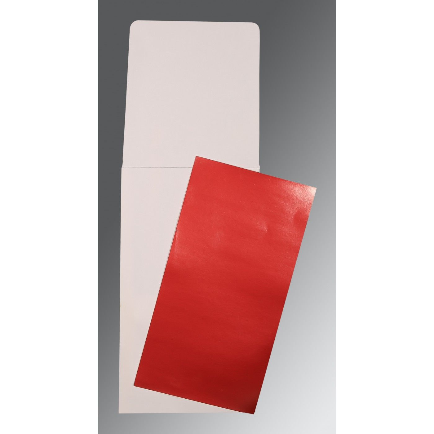 RED GLOSSY PERSONAL CARDS : CP-0010 - IndianWeddingCards