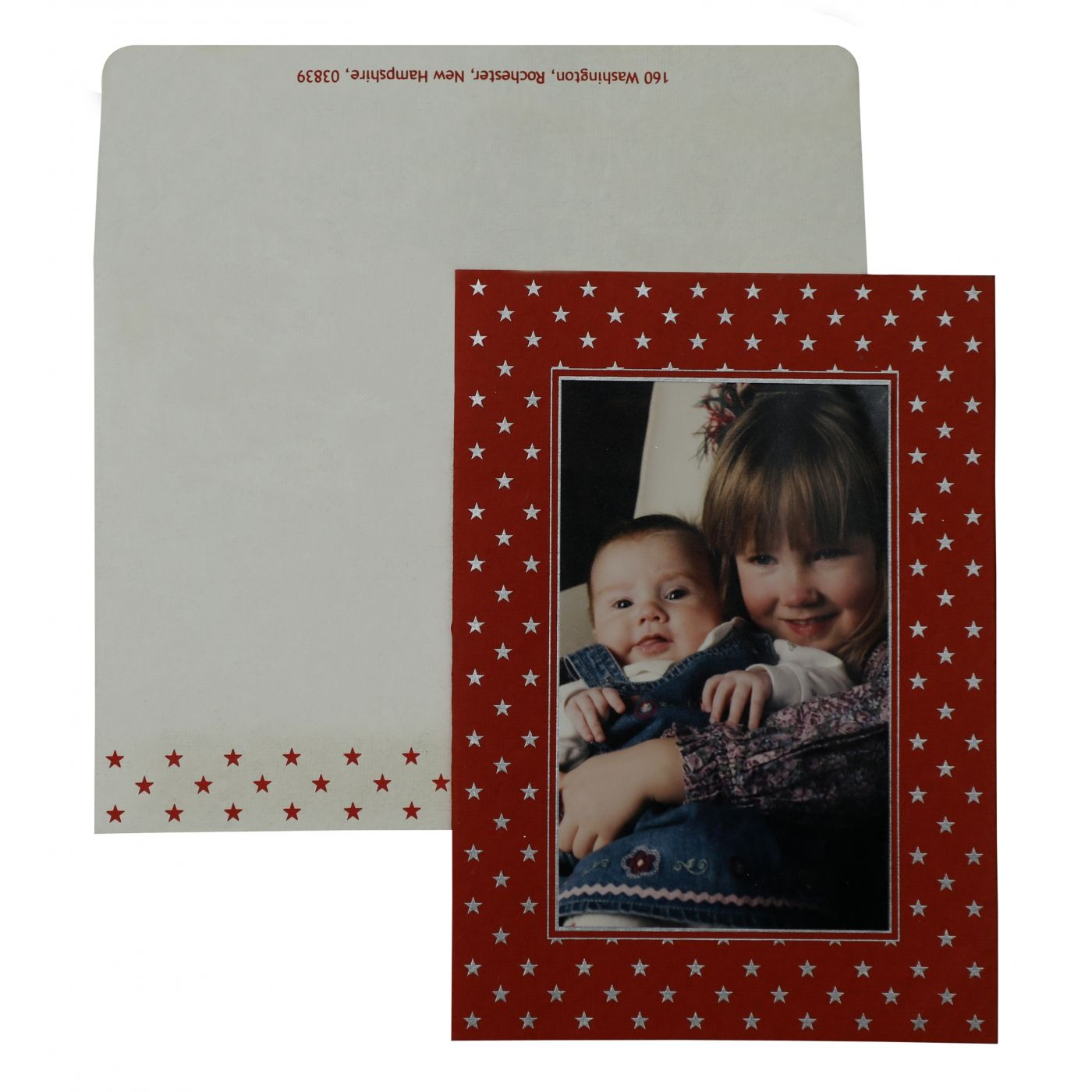 RED HANDMADE COTTON DAMASK THEMED - SCREEN PRINTED HOLIDAY CARDS : CH-859 - IndianWeddingCards