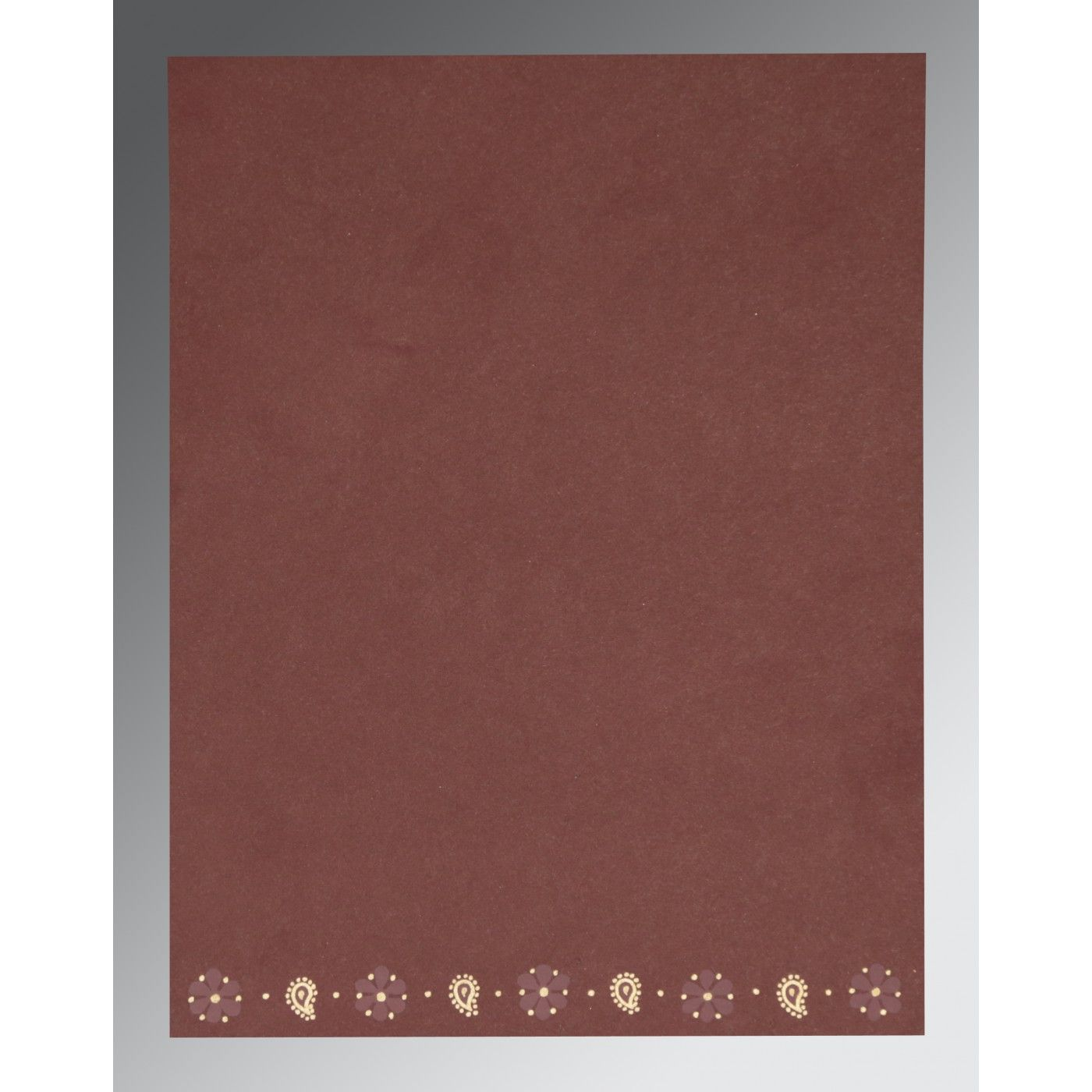 DARK RED MATTE EMBOSSED WEDDING CARD : CW-2208 - IndianWeddingCards
