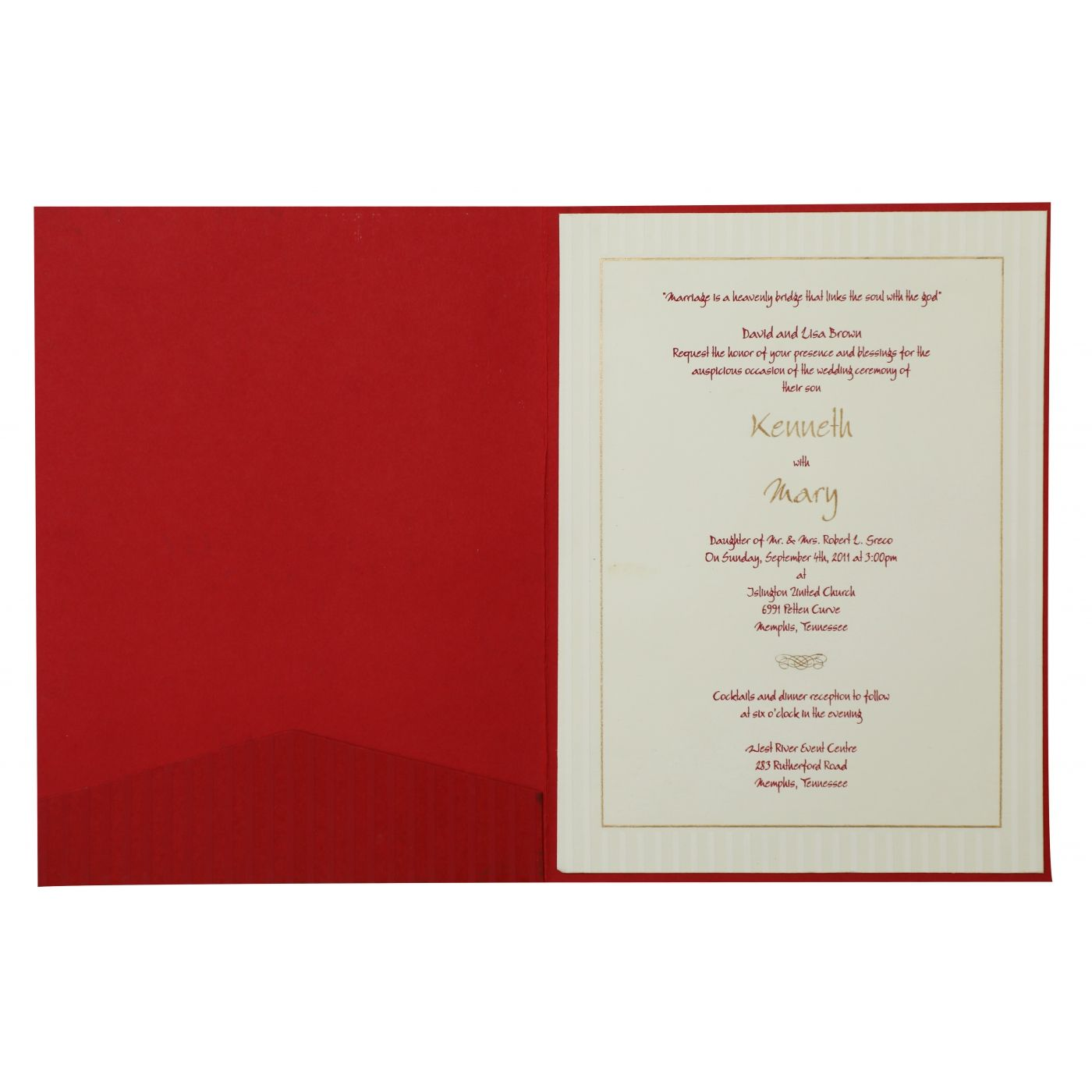 RED MATTE FLORAL THEMED - SCREEN PRINTED WEDDING INVITATION : CI-833 - IndianWeddingCards