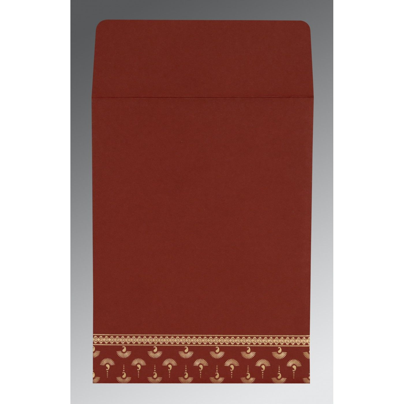 MAROON MATTE SCREEN PRINTED WEDDING INVITATION : CRU-8247D - IndianWeddingCards