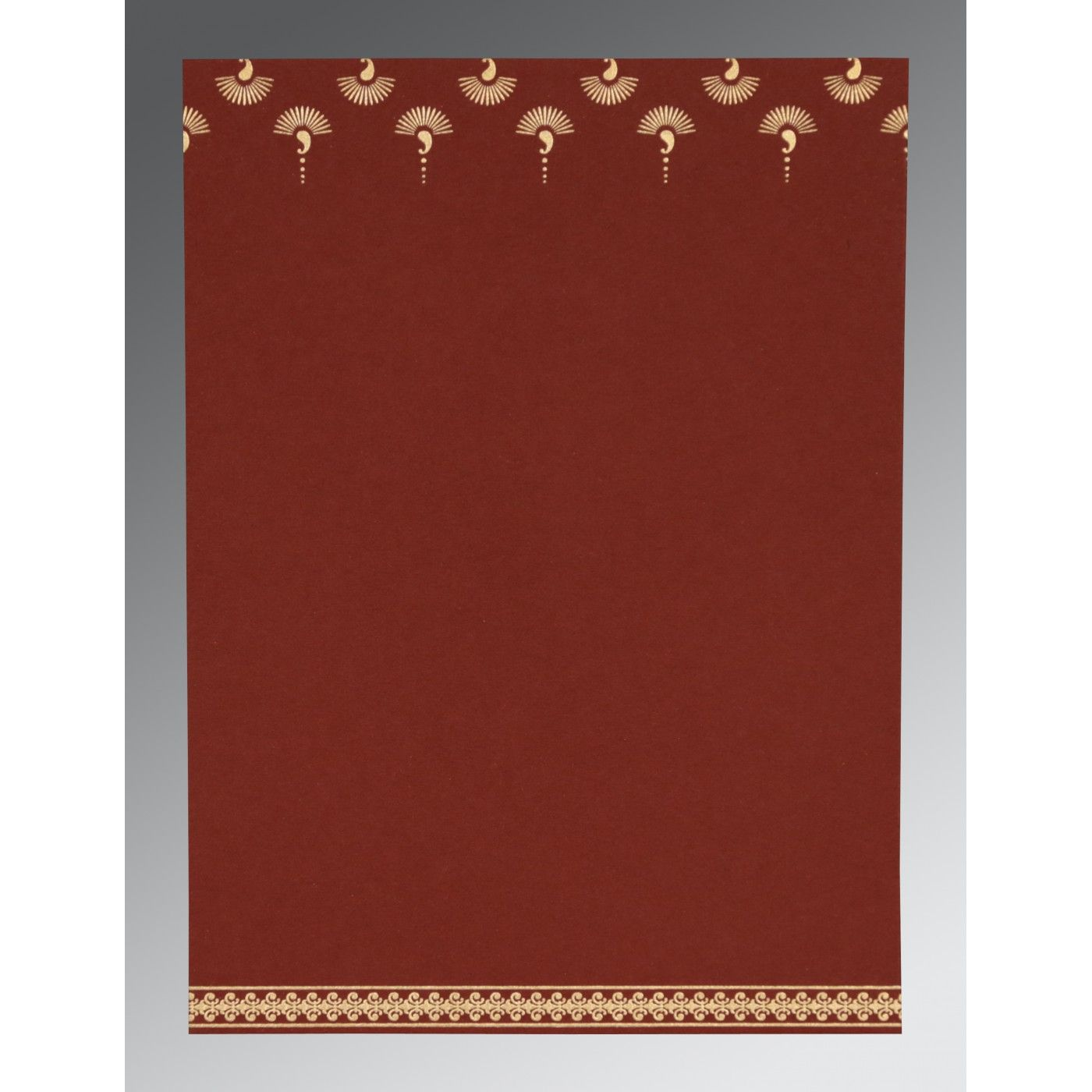 MAROON MATTE SCREEN PRINTED WEDDING INVITATION : CS-8247D - IndianWeddingCards
