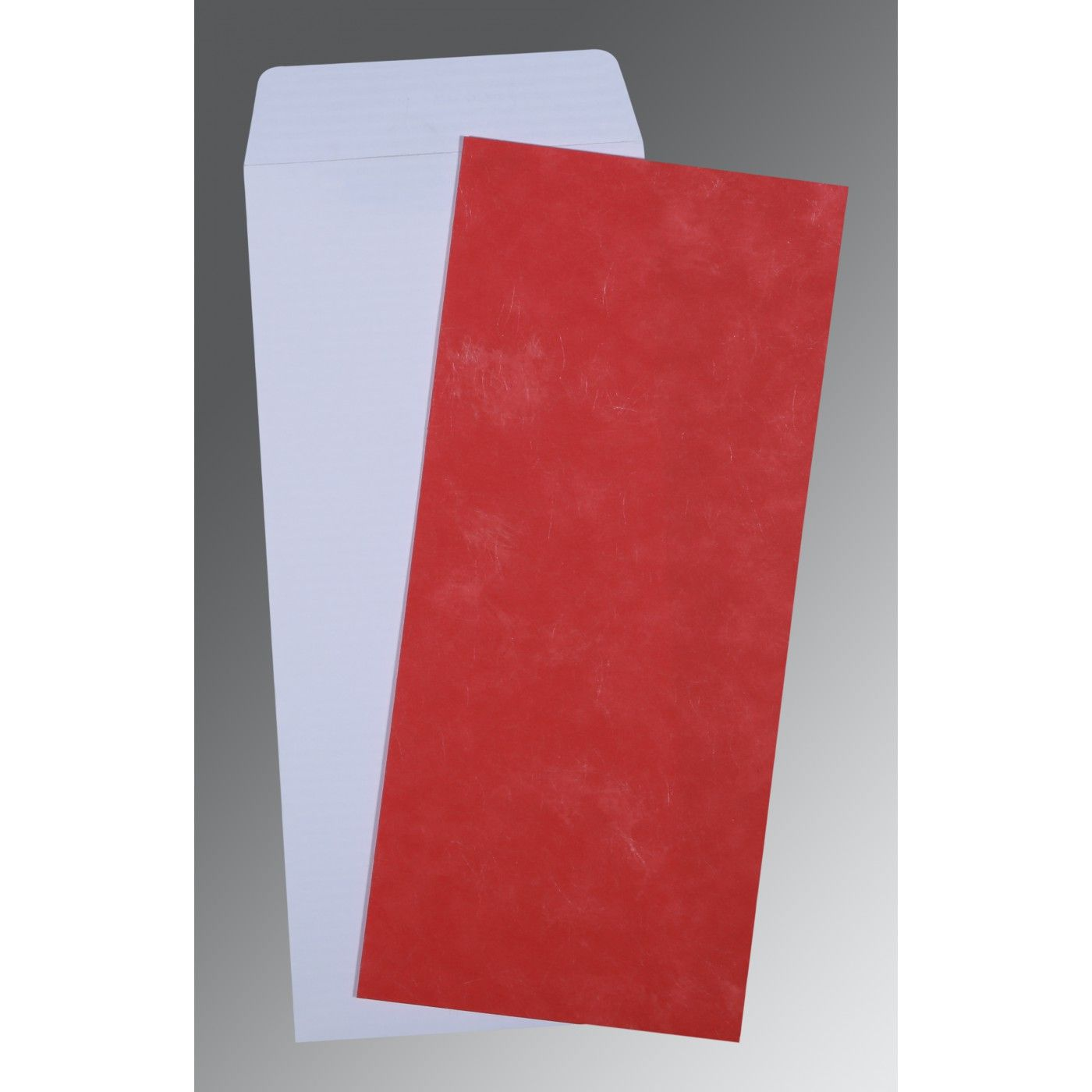 RED MATTE PERSONAL CARDS : CP-0039 - IndianWeddingCards