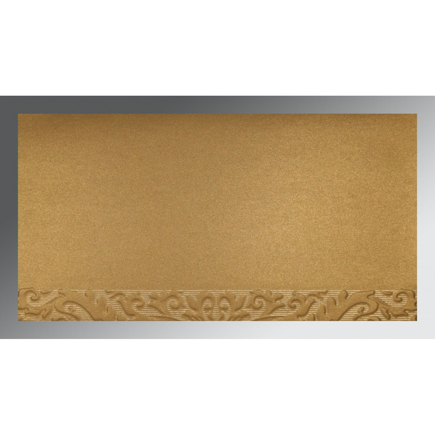 BRICK RED COPPER SHIMMERY FOIL STAMPED WEDDING CARD : CS-1463 - IndianWeddingCards