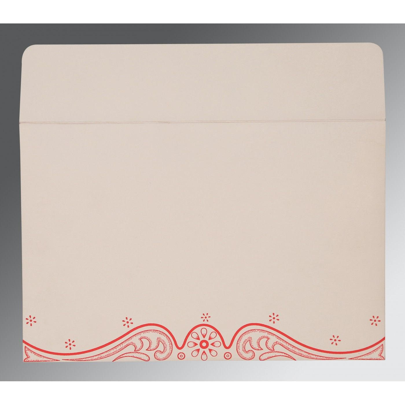 SCARLET MATTE EMBOSSED WEDDING INVITATION : CW-8221J - IndianWeddingCards