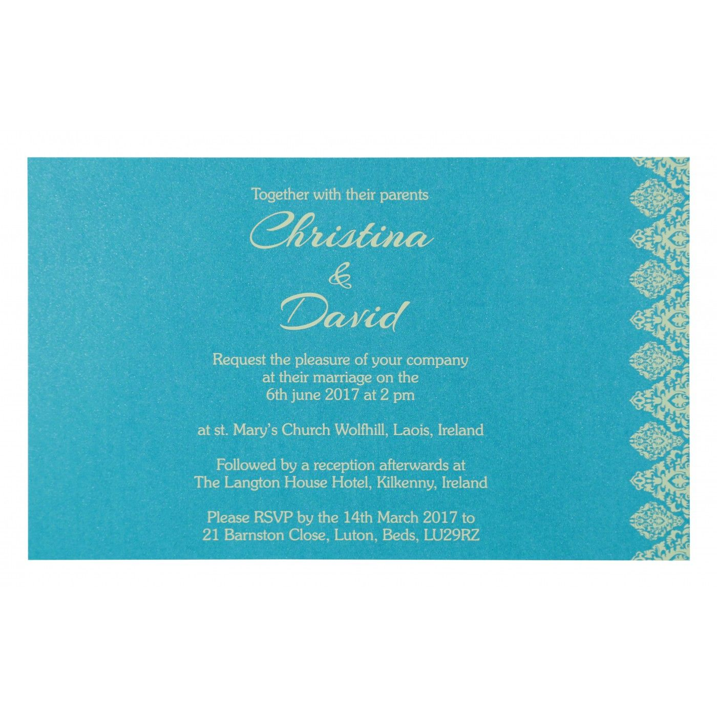 WEDDING CARD : CC-8262C - IndianWeddingCards