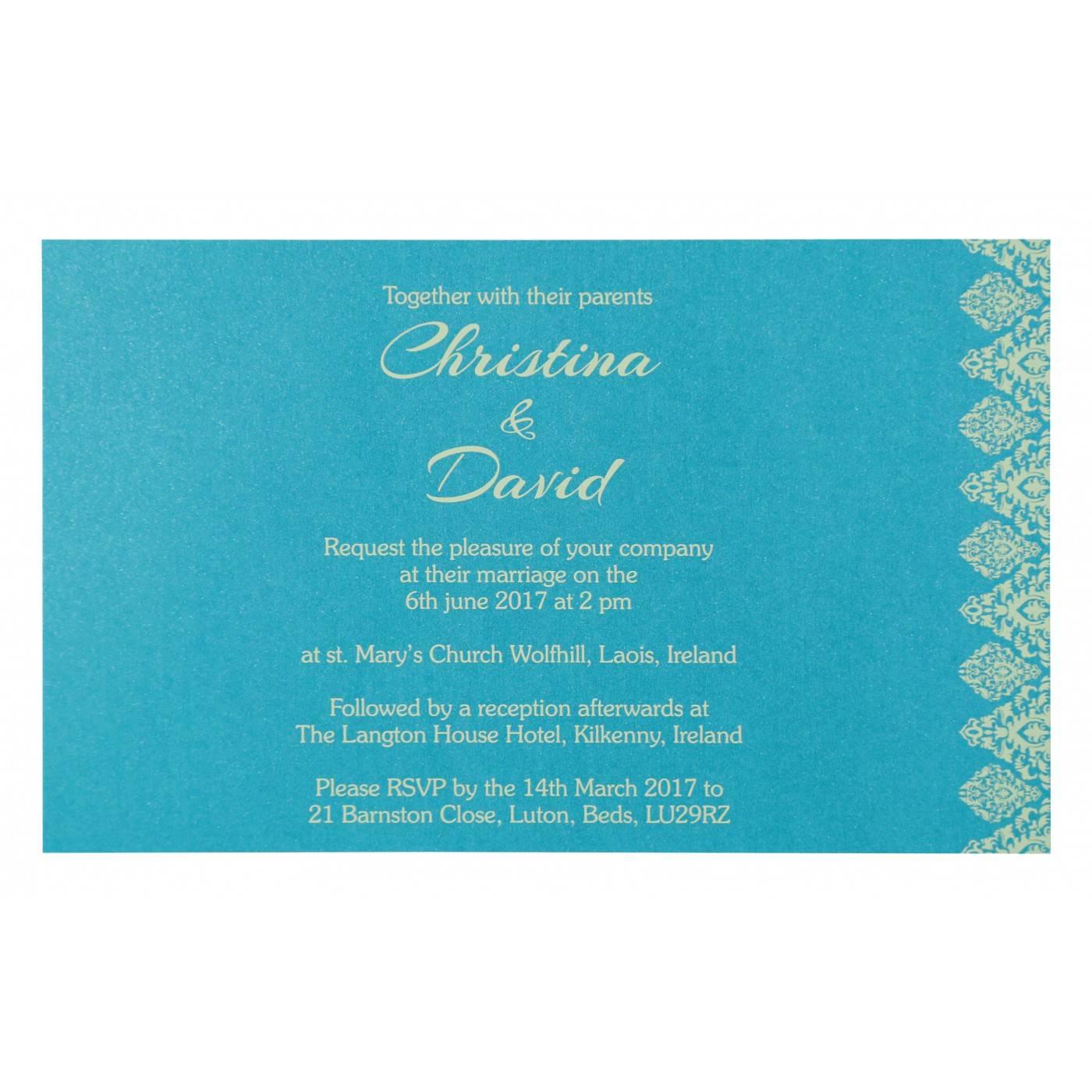 MODERATE ORANGE SHIMMERY DAMASK THEMED - LASER CUT WEDDING CARD : CG-8262C - IndianWeddingCards