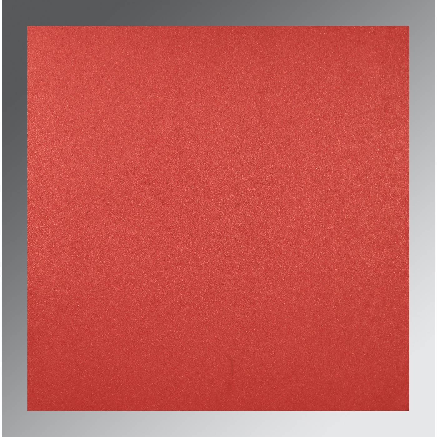GOLD RED SHIMMERY DAMASK THEMED - LASER CUT WEDDING INVITATION : CRU-1494 - IndianWeddingCards