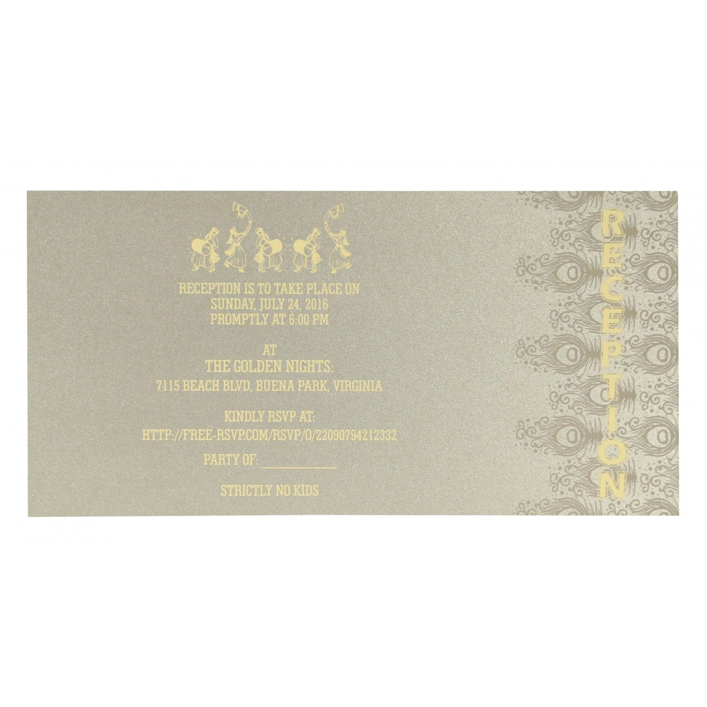 WEDDING INVITATION : CC-8256H - IndianWeddingCards