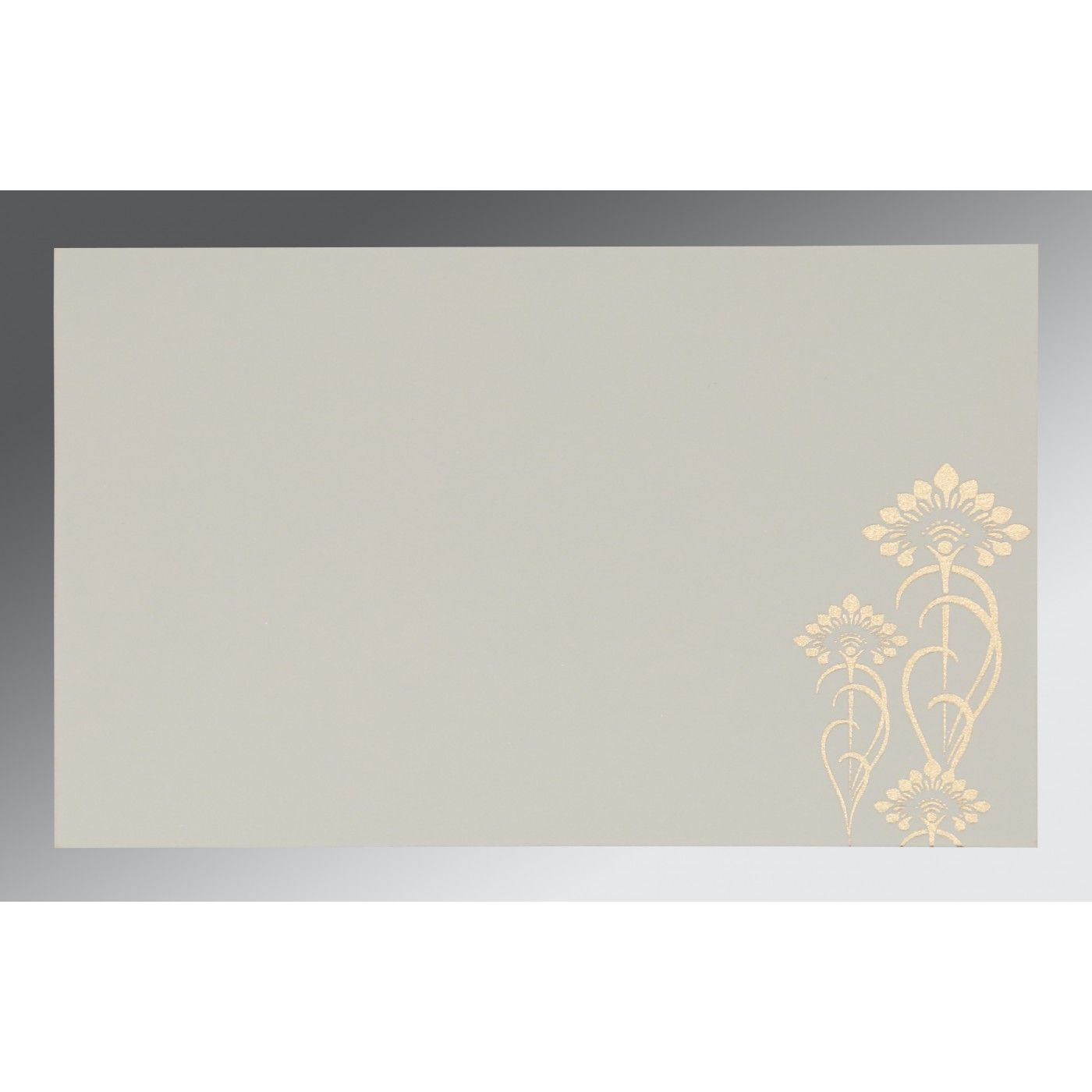 COPPER SHIMMERY SCREEN PRINTED WEDDING CARD : CG-8239H - IndianWeddingCards