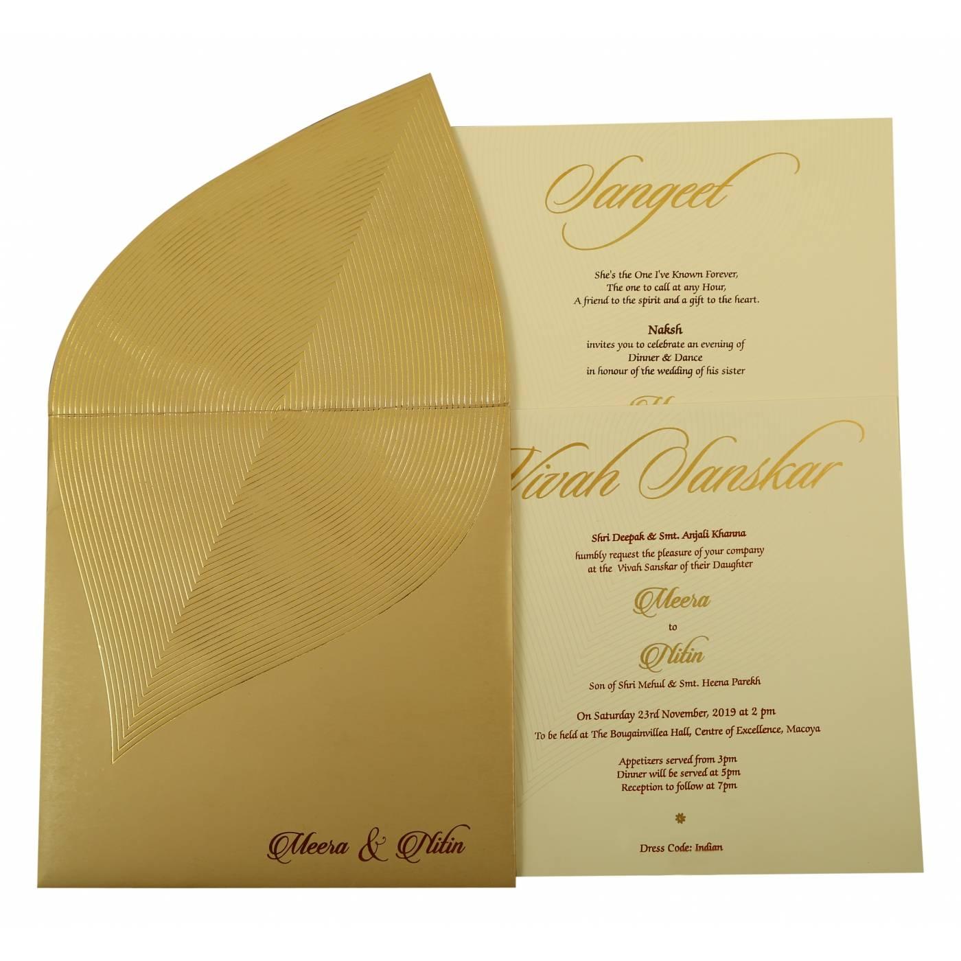 UNIQUE THEMED WEDDING INVITATION : CIN-1879 - IndianWeddingCards
