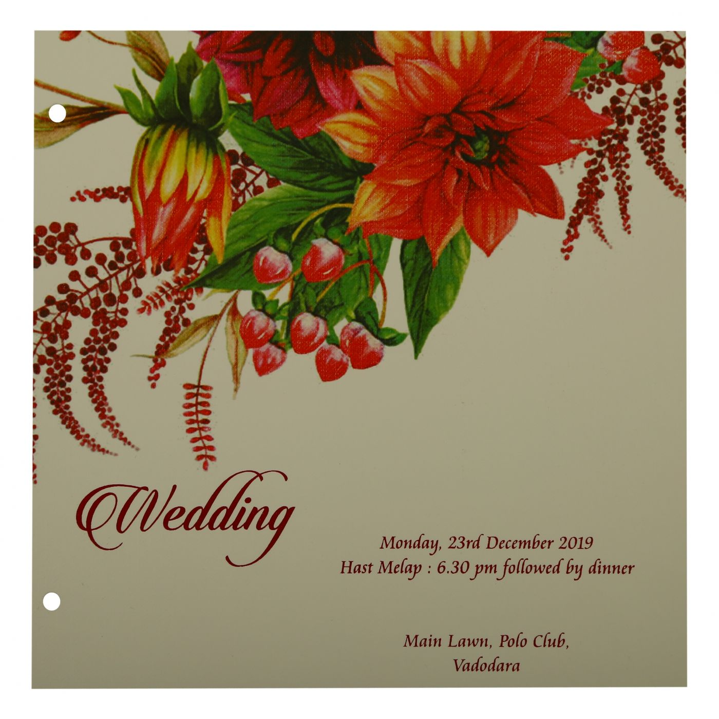 WEDDING INVITATION : CC-1912 - IndianWeddingCards