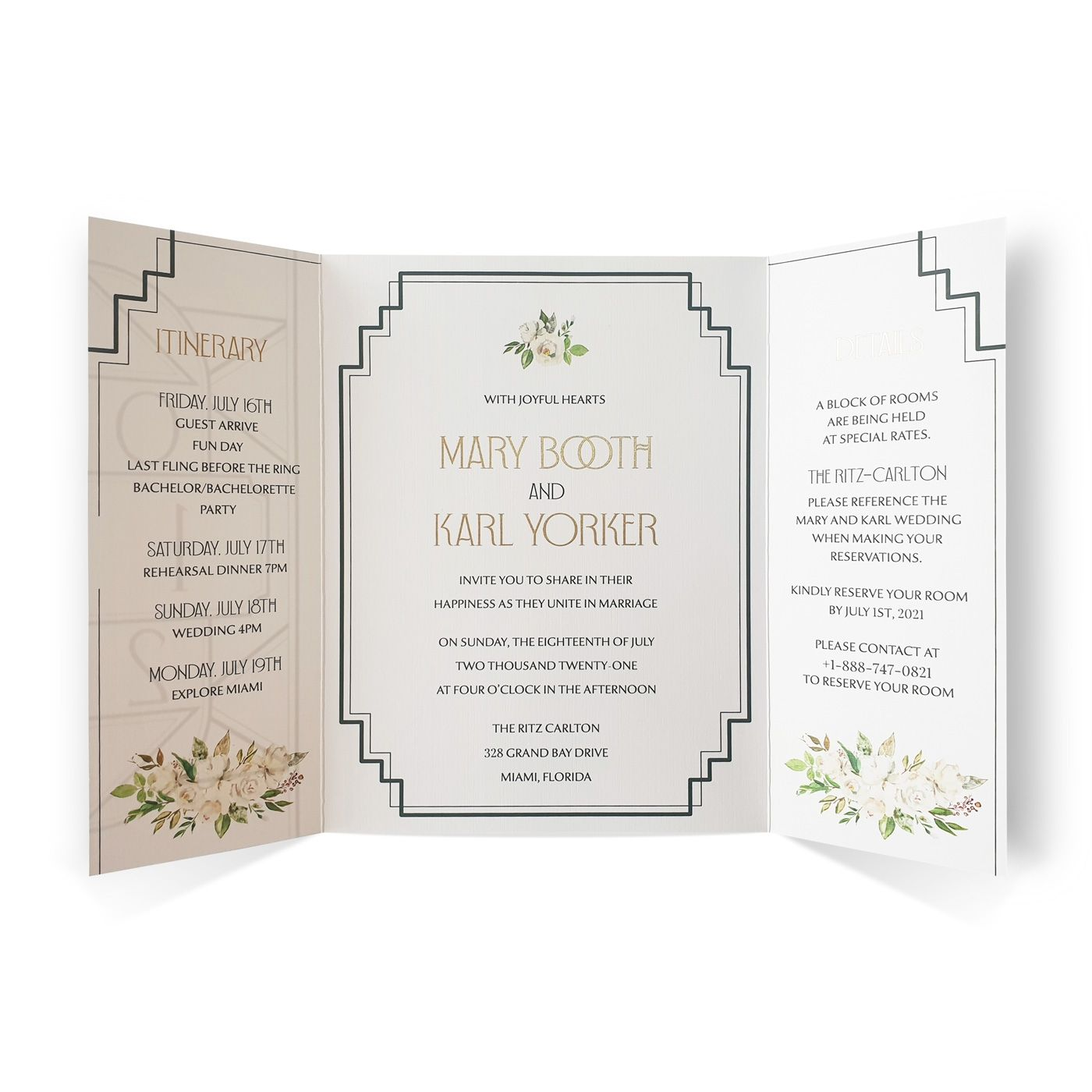 WHITE MATTE FLORAL THEMED - SCREEN PRINTED WEDDING INVITATION : C-LUSTROUS_NIGHT - IndianWeddingCards