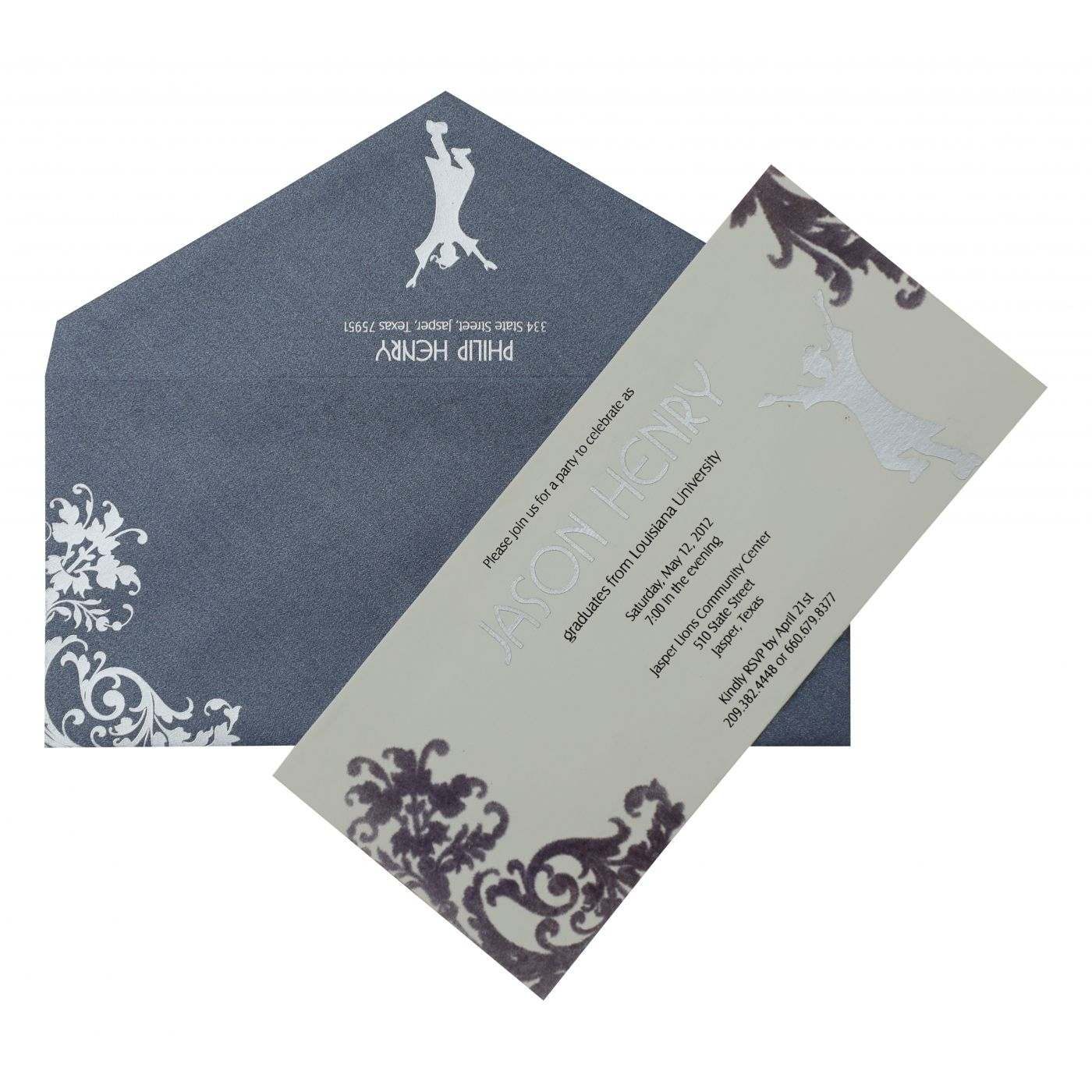 WHITE MATTE PAISLEY THEMED PARTY CARDS : CPY-884 - IndianWeddingCards