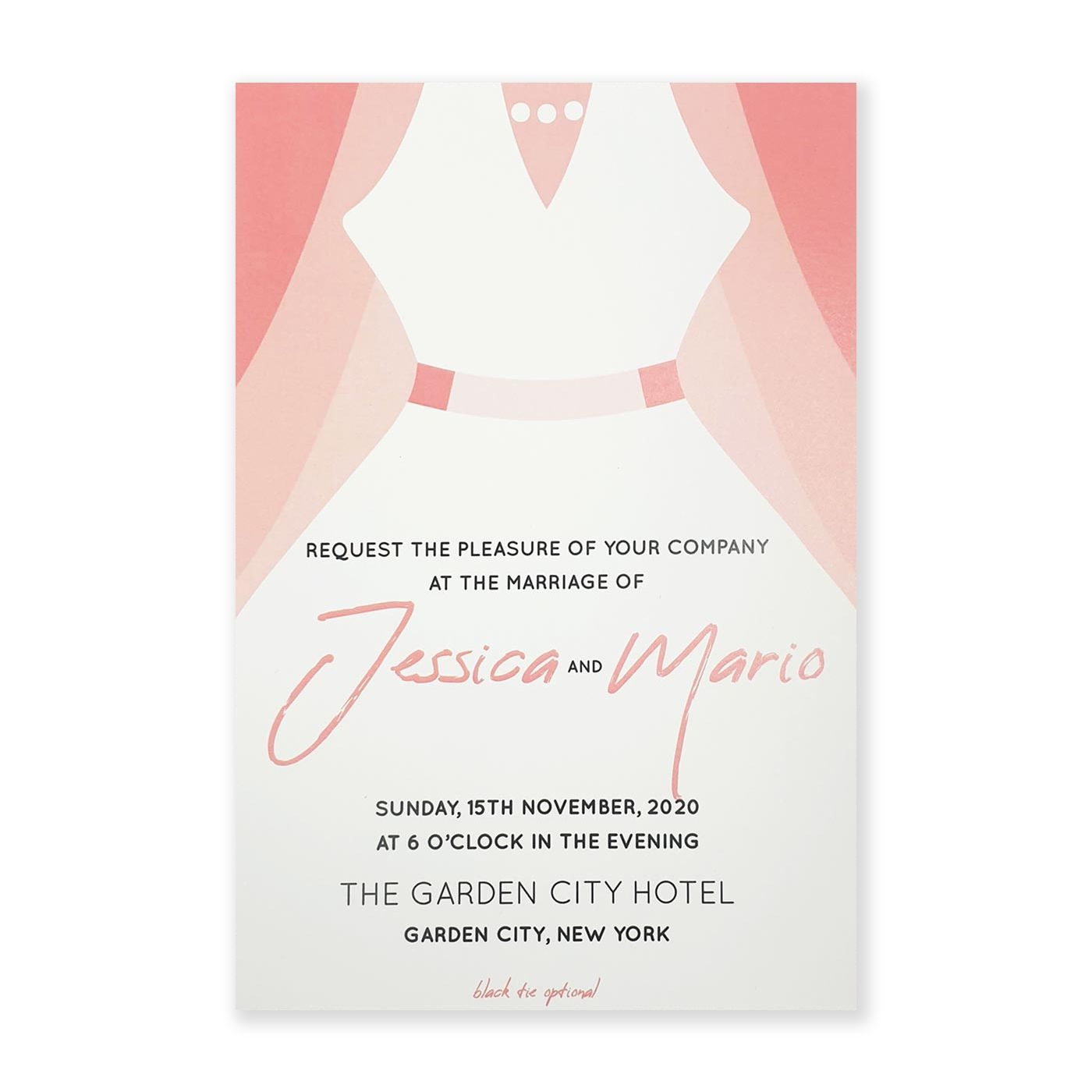 WHITE MATTE SCREEN PRINTED WEDDING INVITATION : C-JOIN_US_BRIDE - IndianWeddingCards