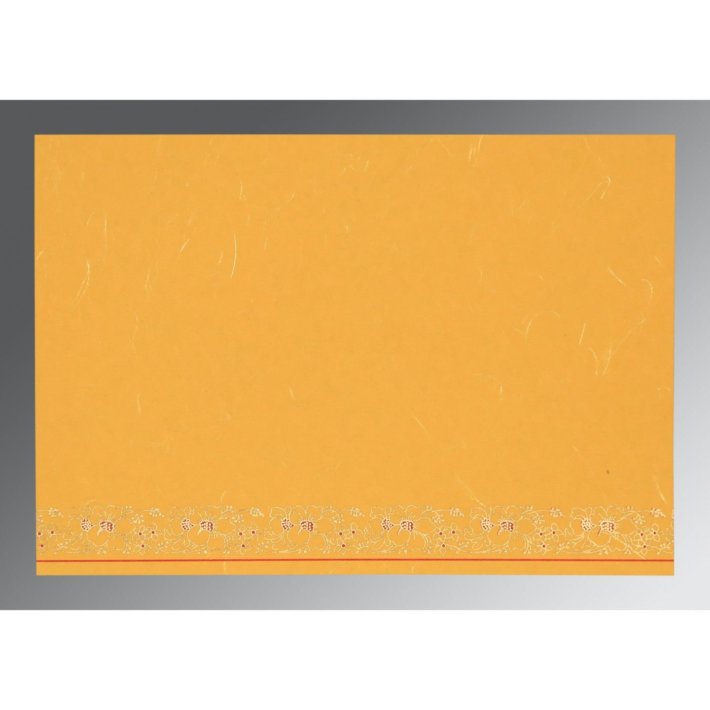 YELLOW HANDMADE SILK SCREEN PRINTED WEDDING INVITATION : CSO-8207O - IndianWeddingCards
