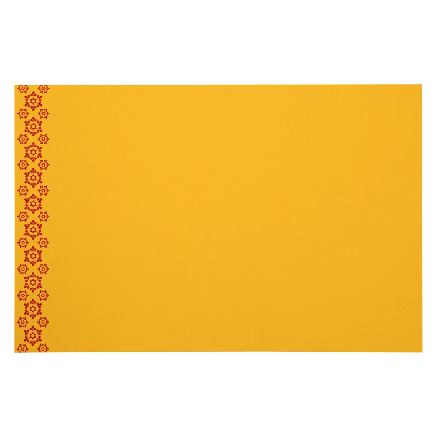 MUSTARD YELLOW PAISLEY THEMED - SCREEN PRINTED WEDDING INVITATION : CIN-801A - IndianWeddingCards