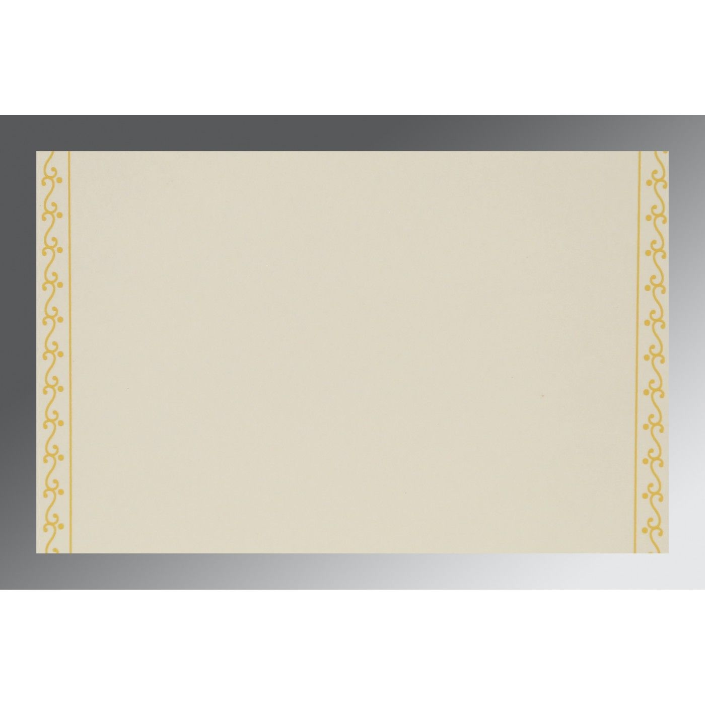 MUSTARD YELLOW MATTE EMBOSSED WEDDING INVITATION : CI-8221H - IndianWeddingCards