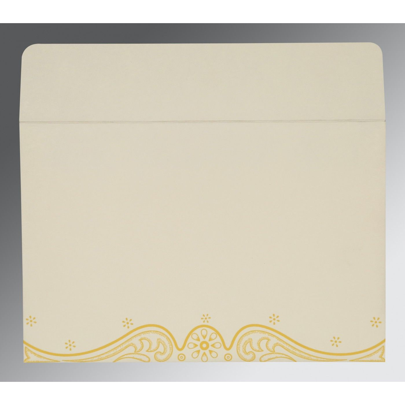 MUSTARD YELLOW MATTE EMBOSSED WEDDING INVITATION : CW-8221H - IndianWeddingCards