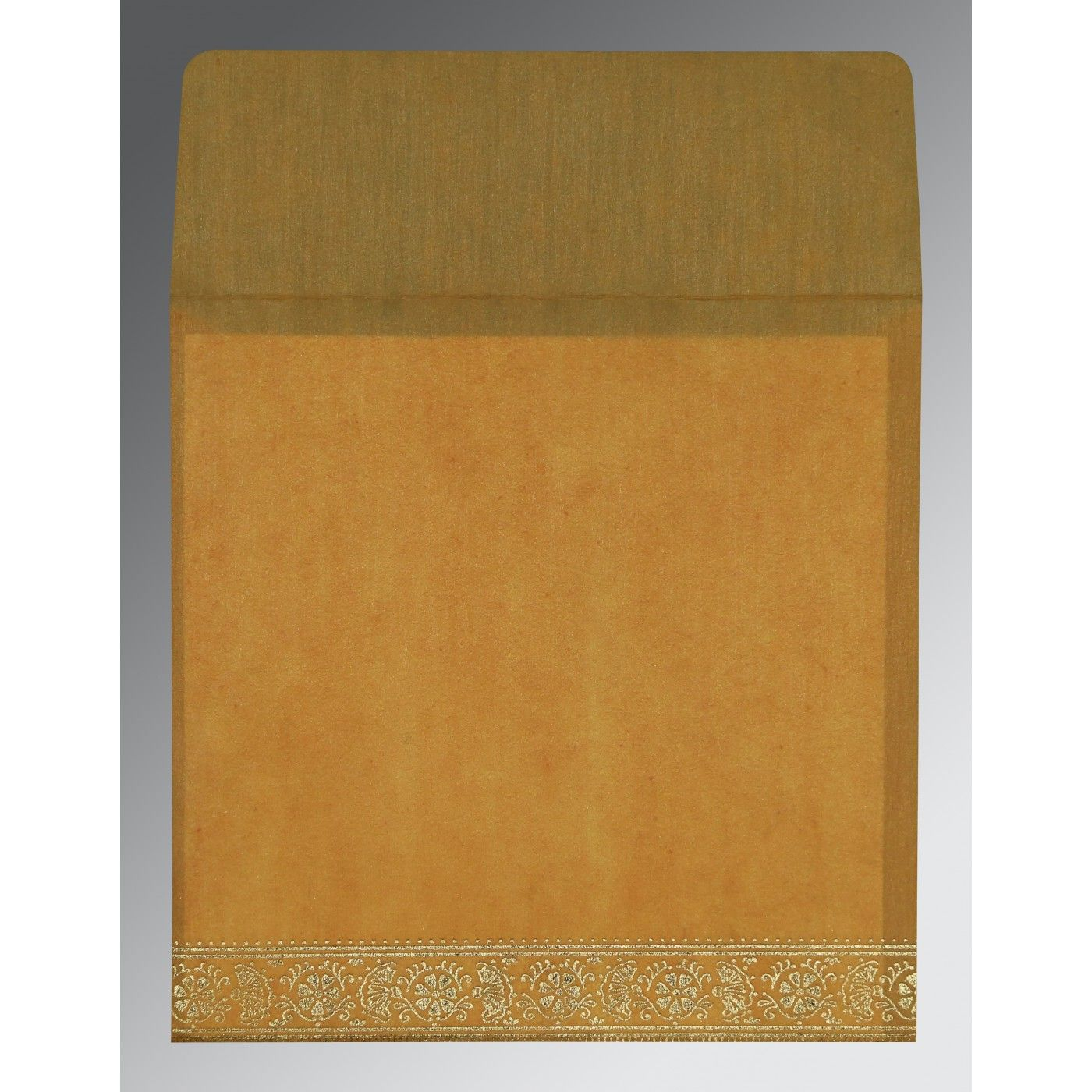 COPPER WOOLY FOIL STAMPED WEDDING CARD : CW-8242D - IndianWeddingCards