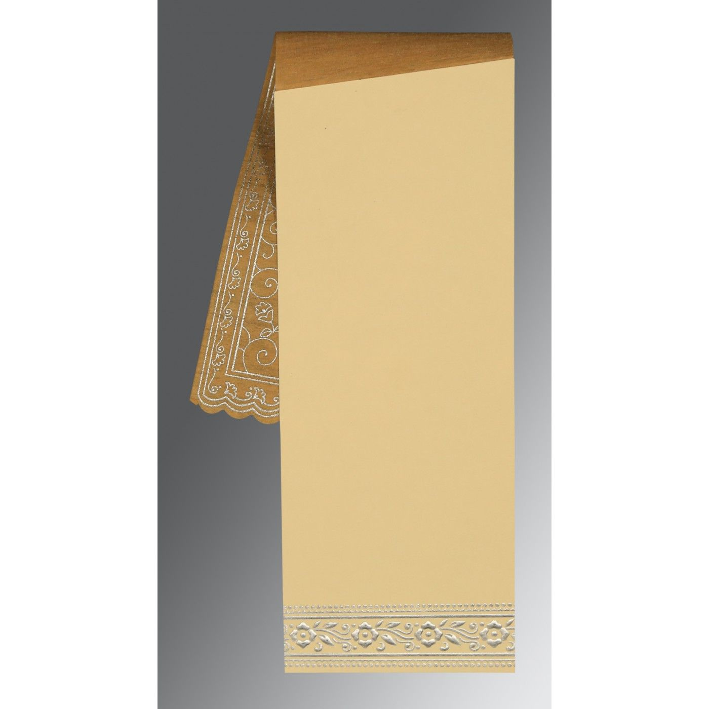 YELLOW WOOLY SCREEN PRINTED WEDDING INVITATION : CSO-8220O - IndianWeddingCards