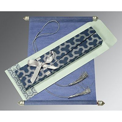 BLUE WOOLY WEDDING CARD : SC-5014D