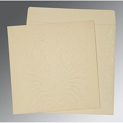 IVORY MATTE EMBOSSED WEDDING INVITATION : CCD-1188