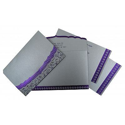 SILVER SHIMMERY FOIL STAMPED WEDDING INVITATION : CD-806A