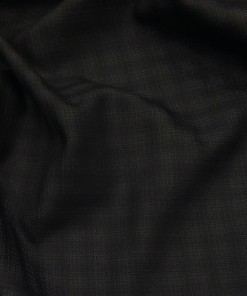 Sage & Simon Black Self Checks Unstitched Terry Rayon Suiting Fabric