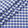 Cadini Italy Men's Cotton Royal Blue Checks 1.60 Meter Unstitched Shirt Fabric (White)