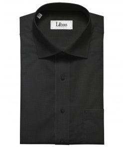 Nemesis Men's Giza Cotton Structured Unstitched Shirting Fabric (Black)