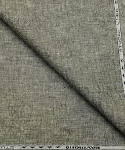 Raymond Men's Linen Self Design 3 Meter Unstitched Suiting Fabric (Pistachious Grey)