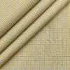 Birla Century Men's Cotton Checks 1.60 Meter Unstitched Shirt Fabric (Beigish Yellow)