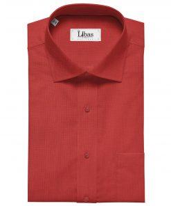 Birla Century Men's Cotton Structured 1.60 Meter Unstitched Shirt Fabric (Red)