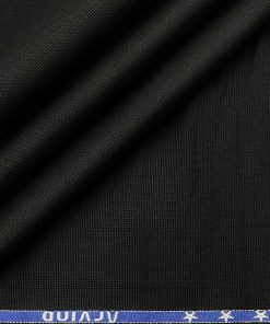 Arvind Men's Cotton Structured 1.30 Meter Unstitched Trouser Fabric (Black)