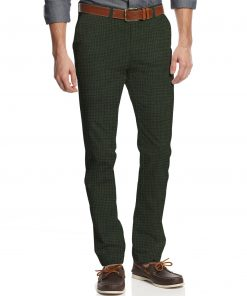 Almonti Men's Cotton Printed 1.30 Meter Unstitched Trouser Fabric (Light Green)