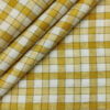 Burgoyne Men's 60 LEA Irish Linen Checks Unstitched Shirting Fabric (Mustard Yellow)