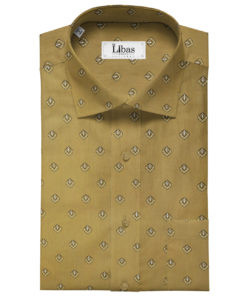 A-Vogue Men's Cotton Printed 2.25 Meter Unstitched Shirting Fabric (Brown)