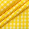 Birla Century Men's Cotton Checks 2 Meter Unstitched Shirting Fabric (Yellow)