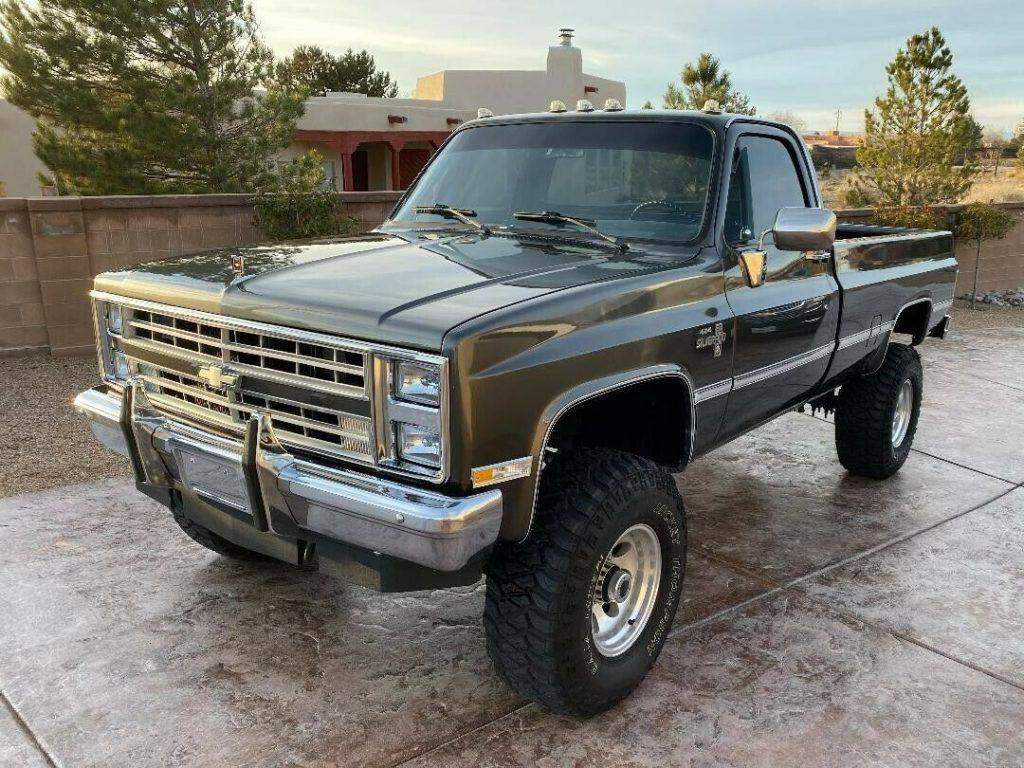restored 1987 Chevrolet C/K Pickup 3500 K30 lifted