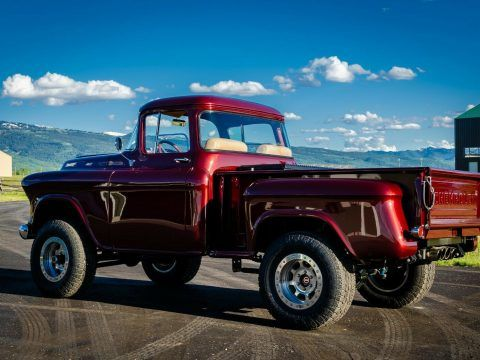 restomod 1955 Chevrolet Pickup 4×4 lifted for sale