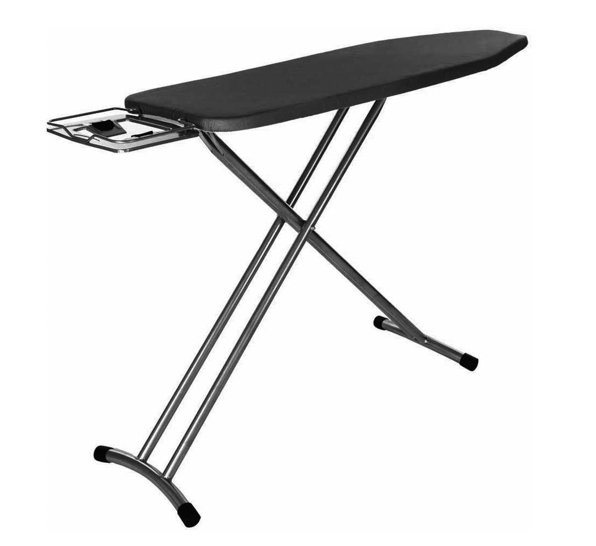 Folding Large Ironing Board Table with PRESS Stand – Black