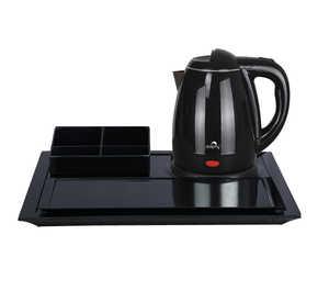 premium black kettle tray set