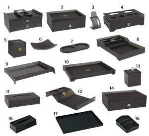 Acrylic accessories set For Hotel Bathroom(Black)