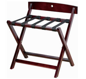 Wooden folding bed room luggage rack