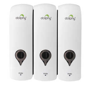 ABS Soap Dispenser Set of 3 White