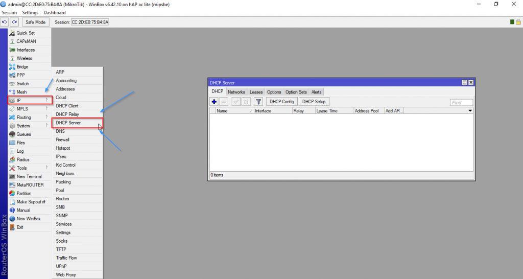 IP, DHCP Server