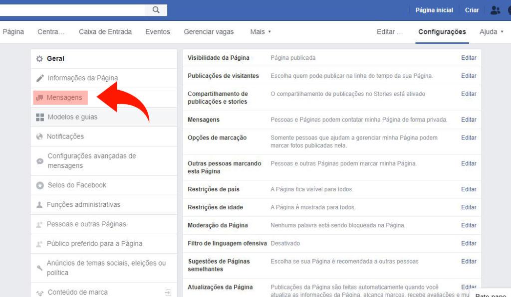 resposta automática facebook 2