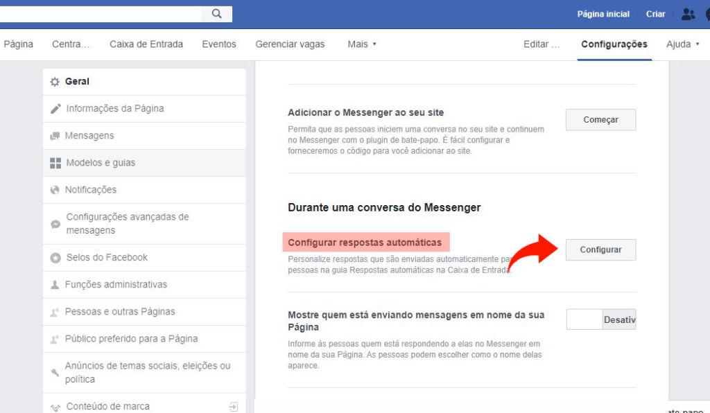 respostas automática facebook 3